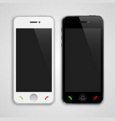 White and black phone vector