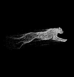 attack motion of predator vector image vector image