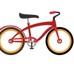 bicycle retro vintage isolated vector image