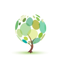 green tree isolated symbol vector image