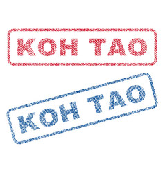 Koh tao textile stamps vector