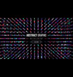 wavy abstract graphic design modern sense of vector image vector image