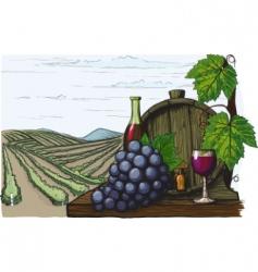 winemaking vector image