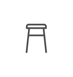 backless stool line icon vector image vector image