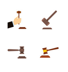 flat icon court set of tribunal law legal and vector image vector image