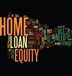 get your home ready to sell with a home equity vector image vector image