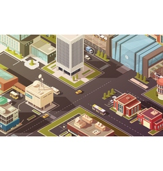 Government Buildings Isometric vector image vector image