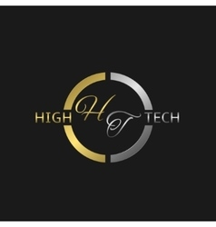 High Tech label vector image