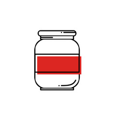 line oil solvent jar icon vector image
