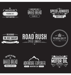 Vintage Badge Design Set vector image