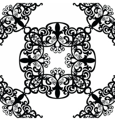 Vintage lace pattern in Eastern style vector image