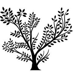 whole black tree vector image