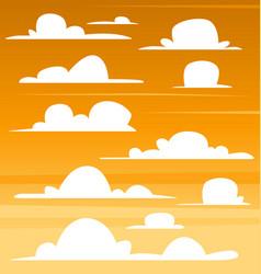 cartoon cloud template set dark sunset collection vector image vector image
