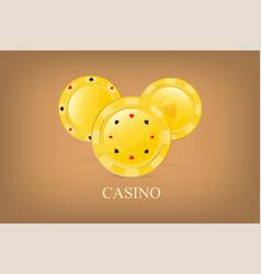 casino poster background or flyer golden vector image