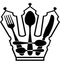 cutlery - Crown vector image vector image