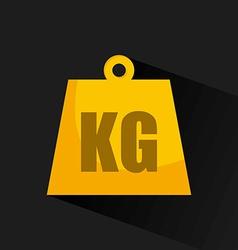 kg design vector image