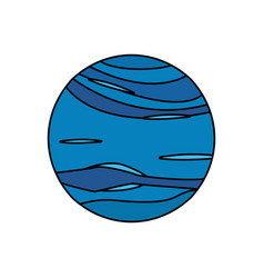 neptune planet universe galaxy vector image vector image