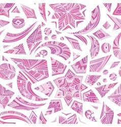 Pink aztec winter pattern vector image