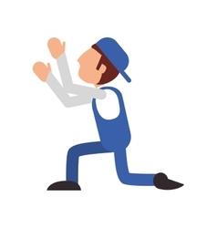 repairman worker proffesional design vector image
