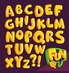 cartoon yellow font vector image