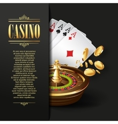 Casino background Gambling vector image vector image