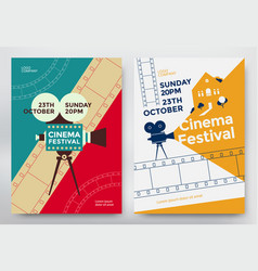 cinema festival poster vector image