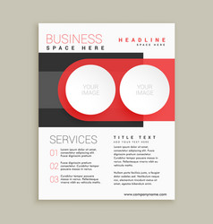 modern business flyer and brochure design in red vector image vector image