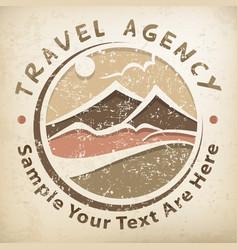 travel logo grunge vector image vector image