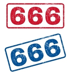 666 Rubber Stamps vector