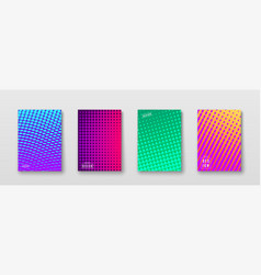 Abstract background with color elements halftone vector