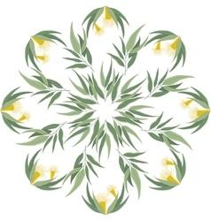 Abstract botanical eucalyptus ornament vector image