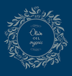 Abstract oil olive blue vintage template vector