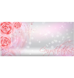 Background with red roses vector image vector image