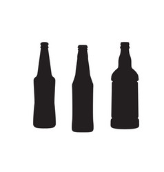beer bottle set isolated on a white vector image