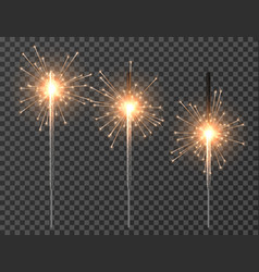 bengal light christmas sparkler lights diwali vector image