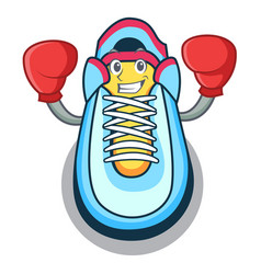 boxing classic sneaker character style vector image
