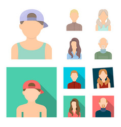 Boy blond bald man girl with tails womanavatar vector