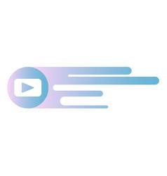 Button video player social media youtube vector