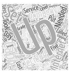 Cable internet service Word Cloud Concept vector