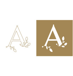 Capital letter a ornamented with decorative vector