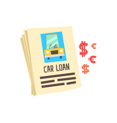 car loan application form colorful cartoon vector image
