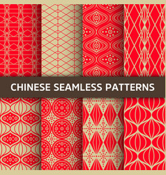 Chinese seamless pattern bright background vector