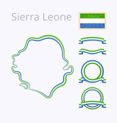 Colors of Sierra Leone vector