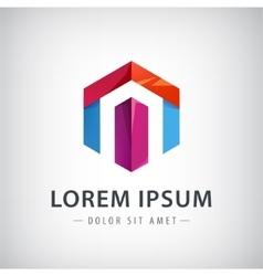 Company ribbon logo design element vector image