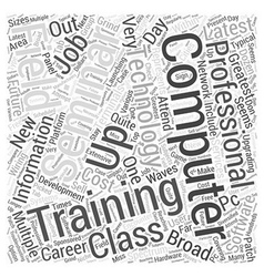Computer IT Training Word Cloud Concept vector image