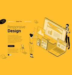 concept for responsive web design vector image
