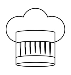 Contour of chefs hat abstract vector