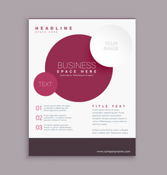 corporate business brochure flyer design with vector image