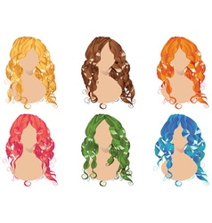 Curly Hair Styles2 vector image