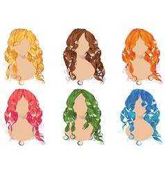 Curly Hair Styles2 vector
